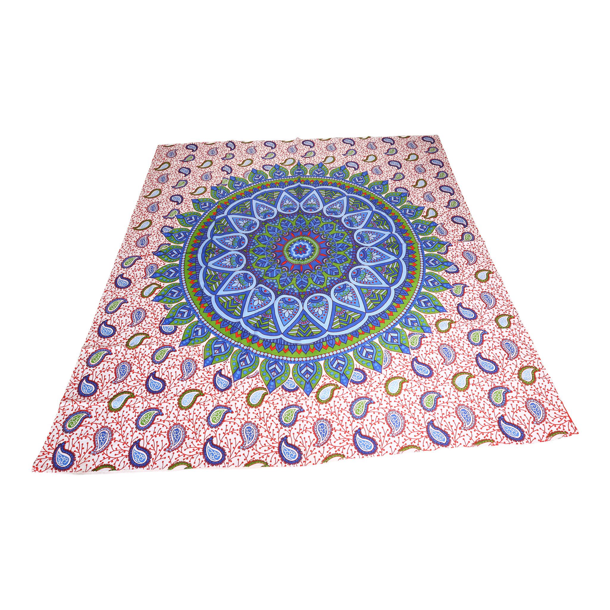 Myroundie Myroundie - roundie - vierkant strandlaken XL – yoga kleed- speelkleed - picknickkleed -100% katoen – Q5
