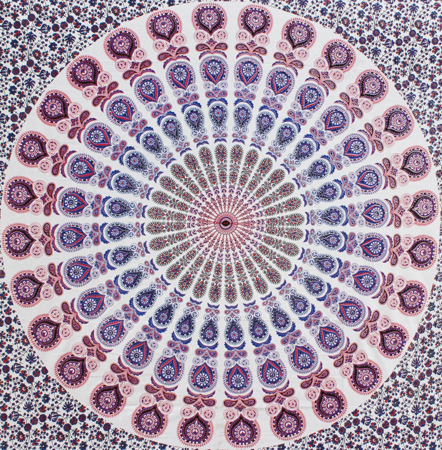 Myroundie Myroundie - roundie - vierkant strandlaken XL – yoga kleed- speelkleed - picknickkleed -100% katoen – Q7