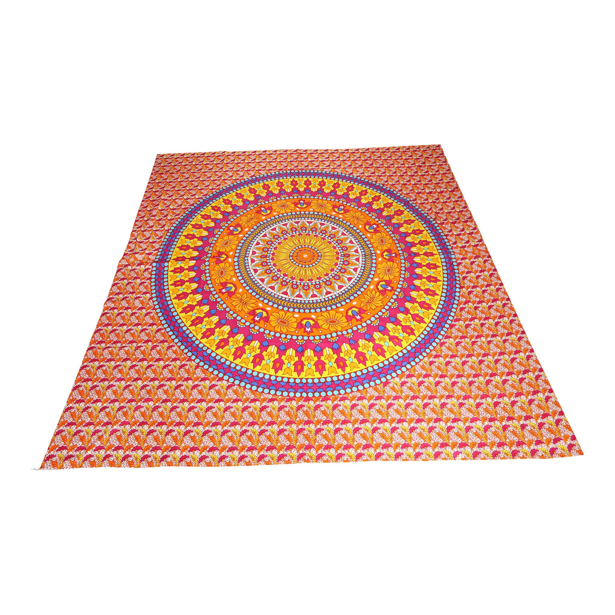 Myroundie Myroundie - roundie - vierkant strandlaken XL – yoga kleed- speelkleed - picknickkleed -100% katoen – Q40