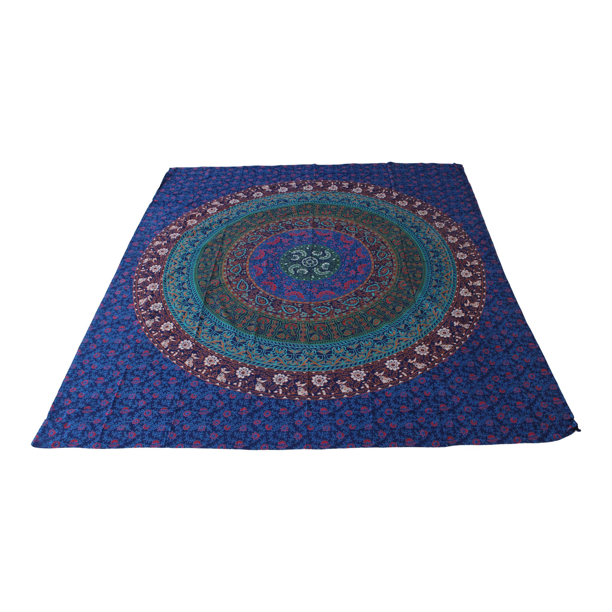 Myroundie Myroundie - roundie - vierkant strandlaken XL – yoga kleed- speelkleed - picknickkleed -100% katoen – Q60