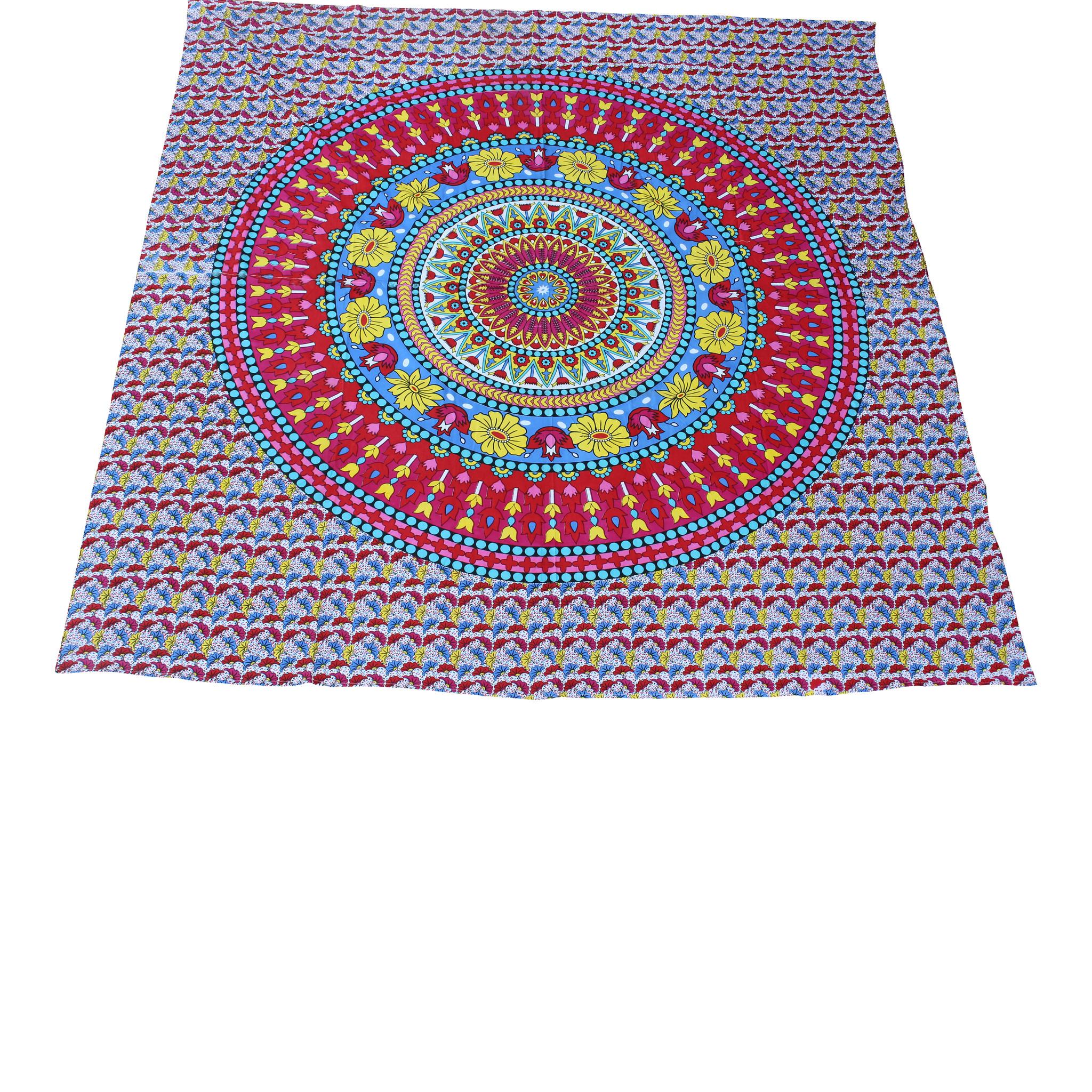 Myroundie Myroundie - roundie - vierkant strandlaken XL – yoga kleed- speelkleed - picknickkleed -100% katoen – Q41