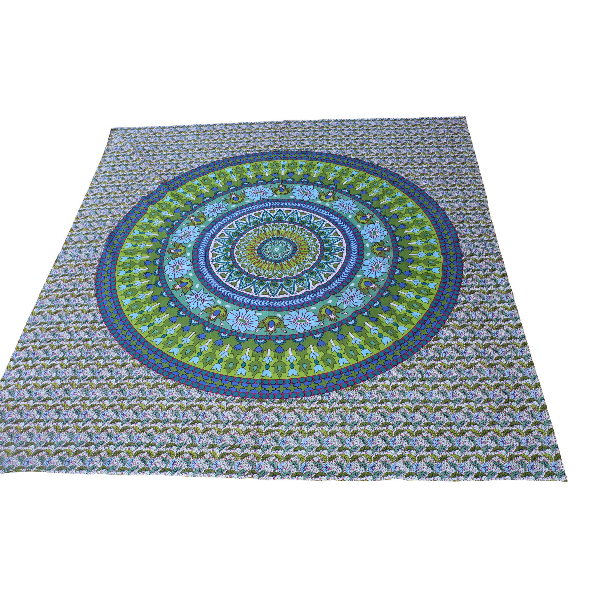 Myroundie Myroundie - roundie - vierkant strandlaken XL – yoga kleed- speelkleed - picknickkleed -100% katoen – Q35