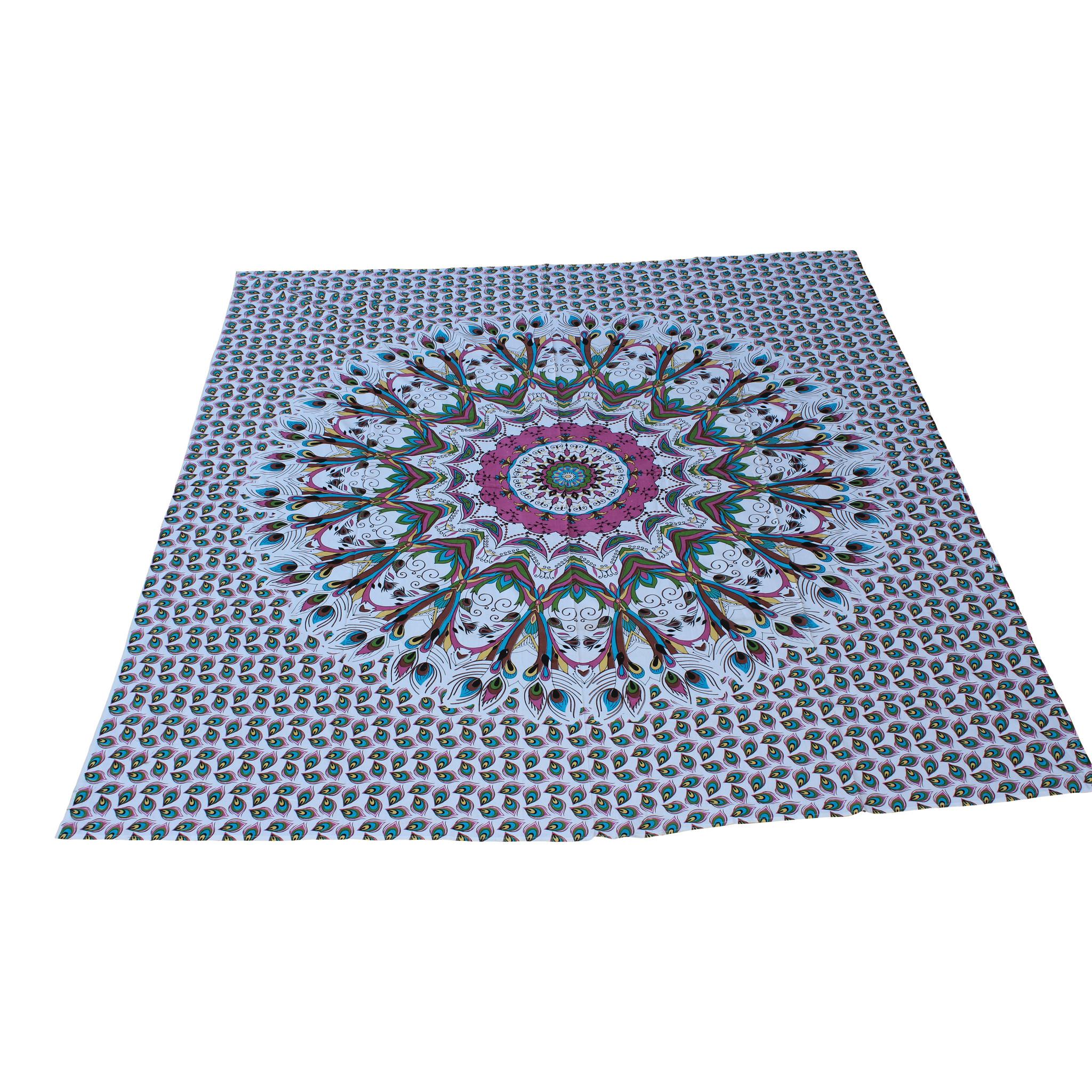 Myroundie Myroundie - roundie - vierkant strandlaken XL – yoga kleed- speelkleed - picknickkleed -100% katoen – Q49