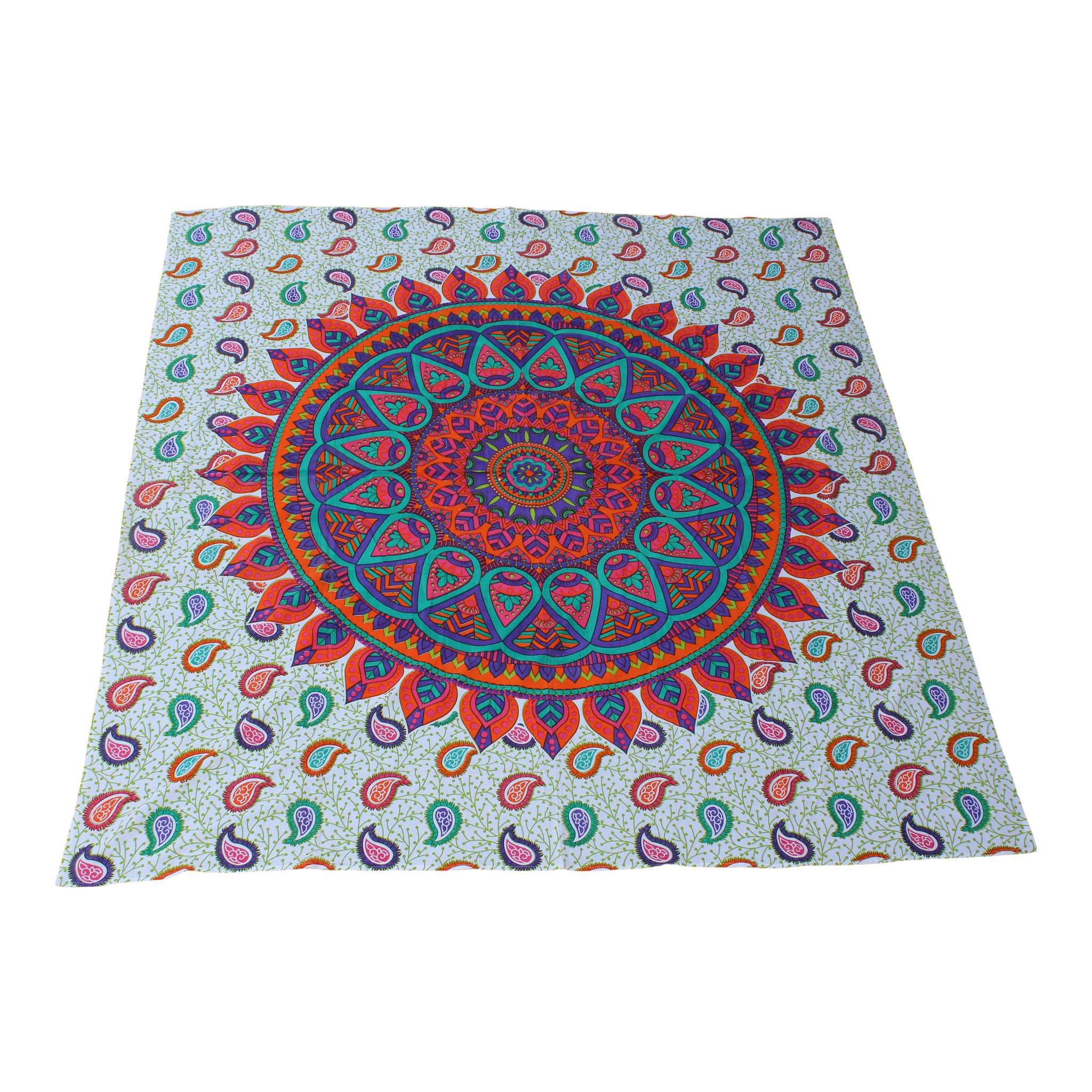 Myroundie Myroundie - roundie - vierkant strandlaken XL – yoga kleed- speelkleed - picknickkleed -100% katoen – Q6