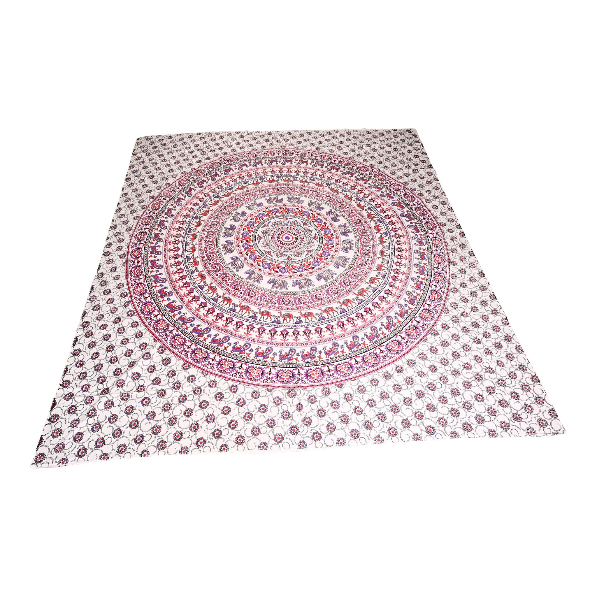 Myroundie Myroundie - roundie - vierkant strandlaken XL – yoga kleed- speelkleed - picknickkleed -100% katoen – Q24