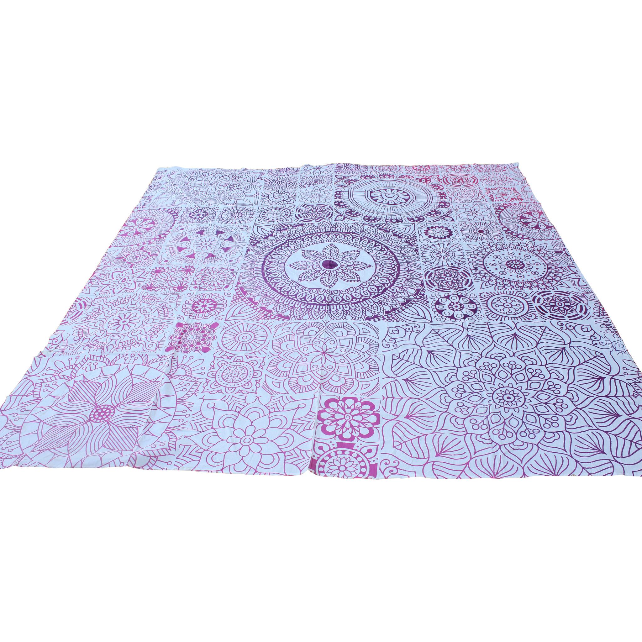 Myroundie Myroundie - roundie - vierkant strandlaken XL – yoga kleed- speelkleed - picknickkleed -100% katoen – Q42