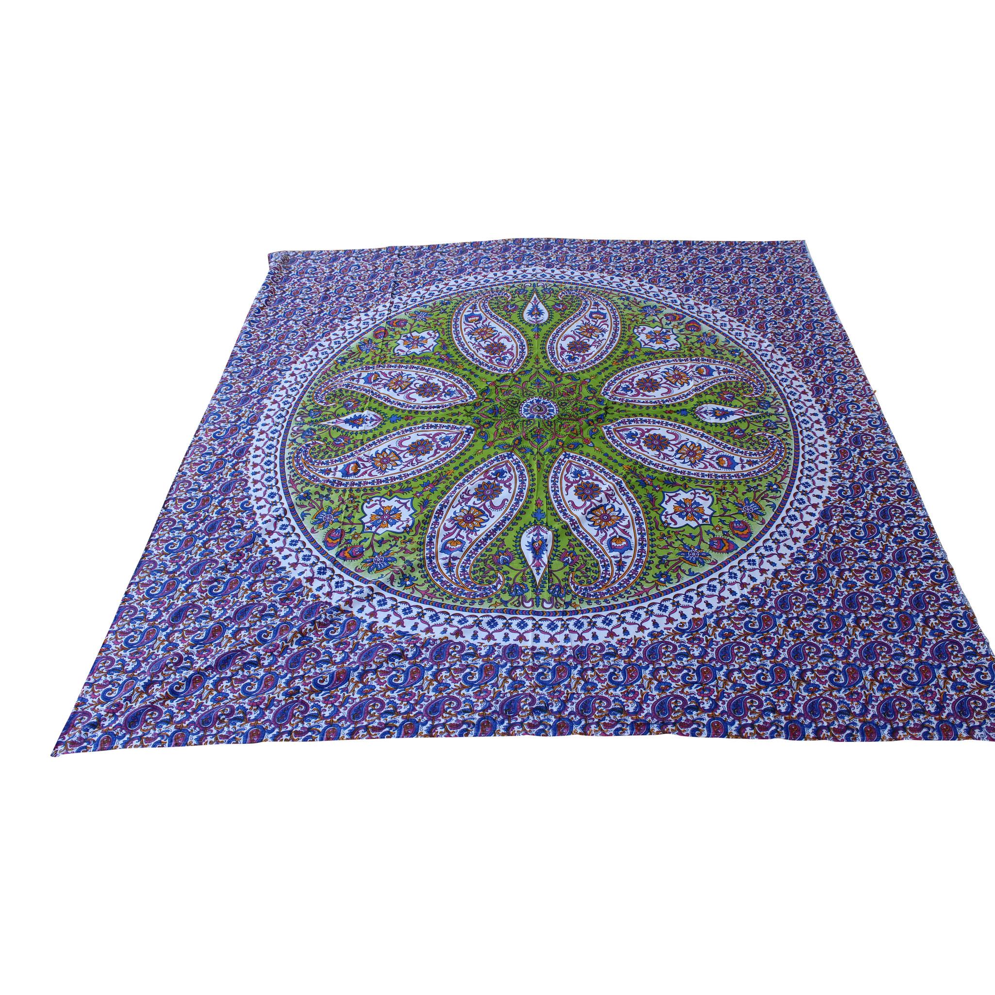Myroundie Myroundie - roundie - vierkant strandlaken XL – yoga kleed- speelkleed - picknickkleed -100% katoen – Q55