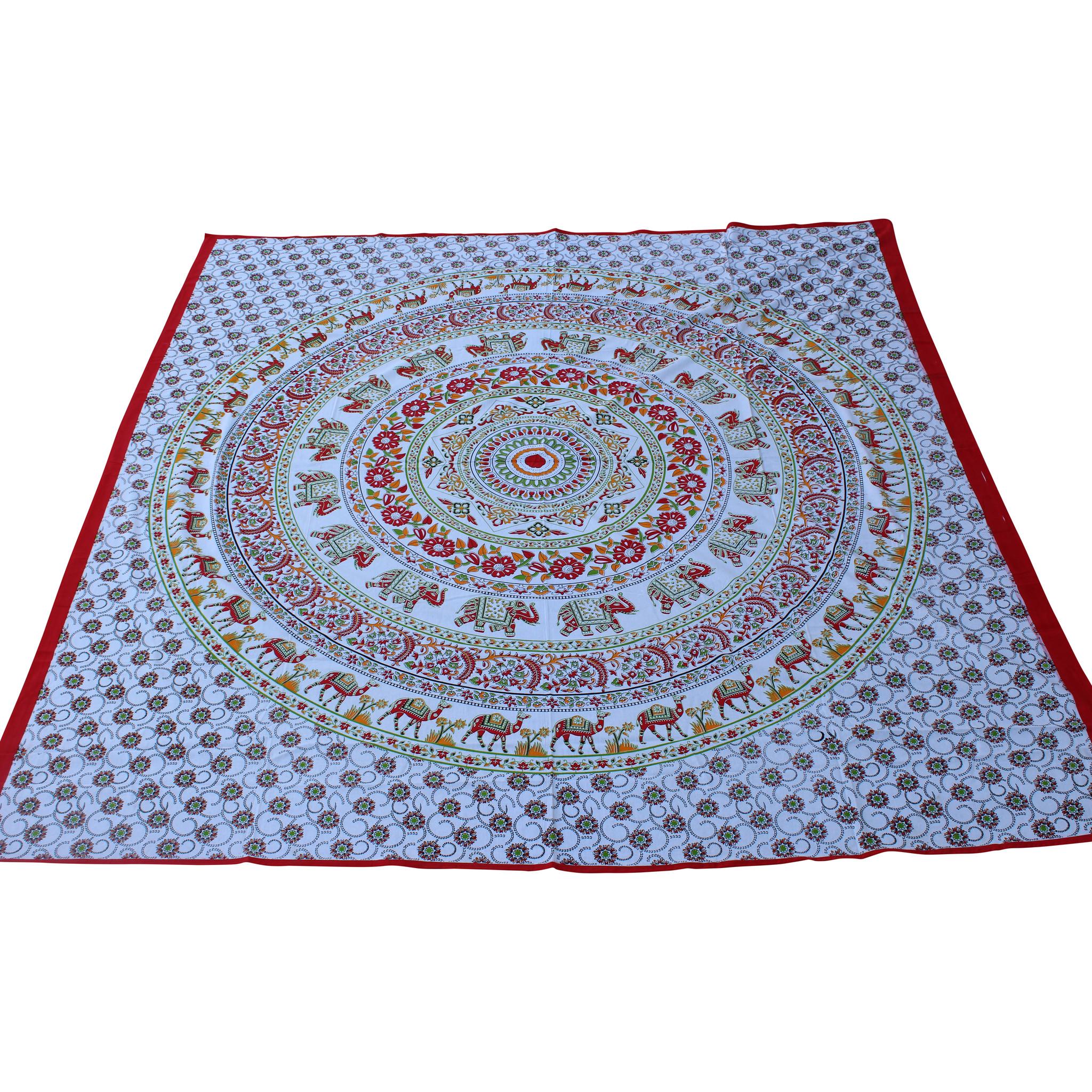 Myroundie Myroundie - roundie - vierkant strandlaken XL – yoga kleed- speelkleed - picknickkleed -100% katoen – Q27