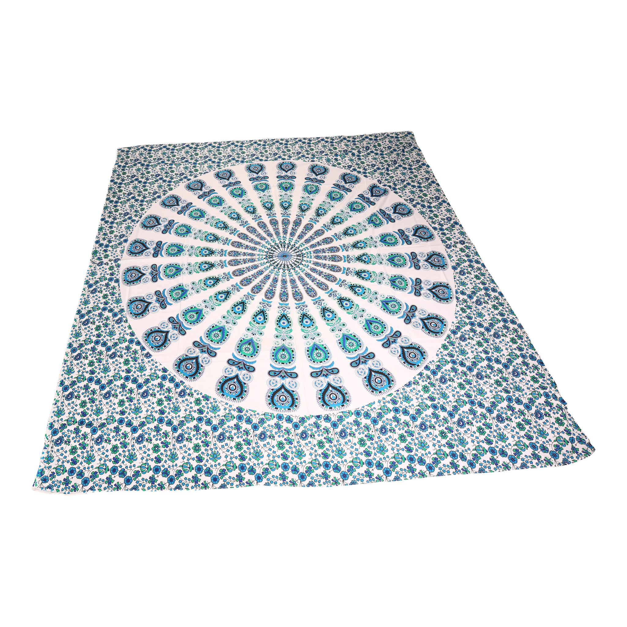 Myroundie Myroundie - roundie - vierkant strandlaken XL – yoga kleed- speelkleed - picknickkleed -100% katoen – Q18