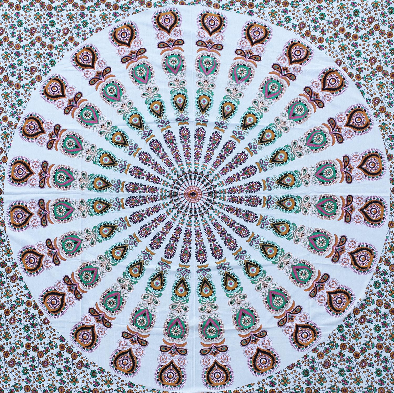 Myroundie Myroundie - roundie - vierkant strandlaken XL – yoga kleed- speelkleed - picknickkleed -100% katoen – Q15