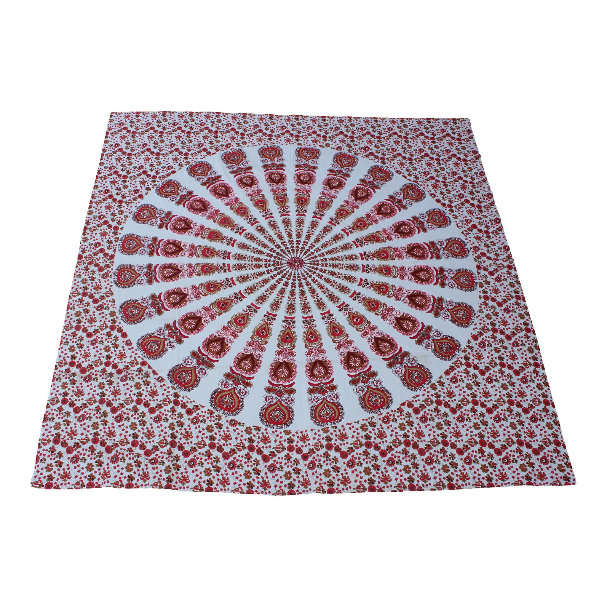 Myroundie Myroundie - roundie - vierkant strandlaken XL – yoga kleed- speelkleed - picknickkleed -100% katoen – Q12