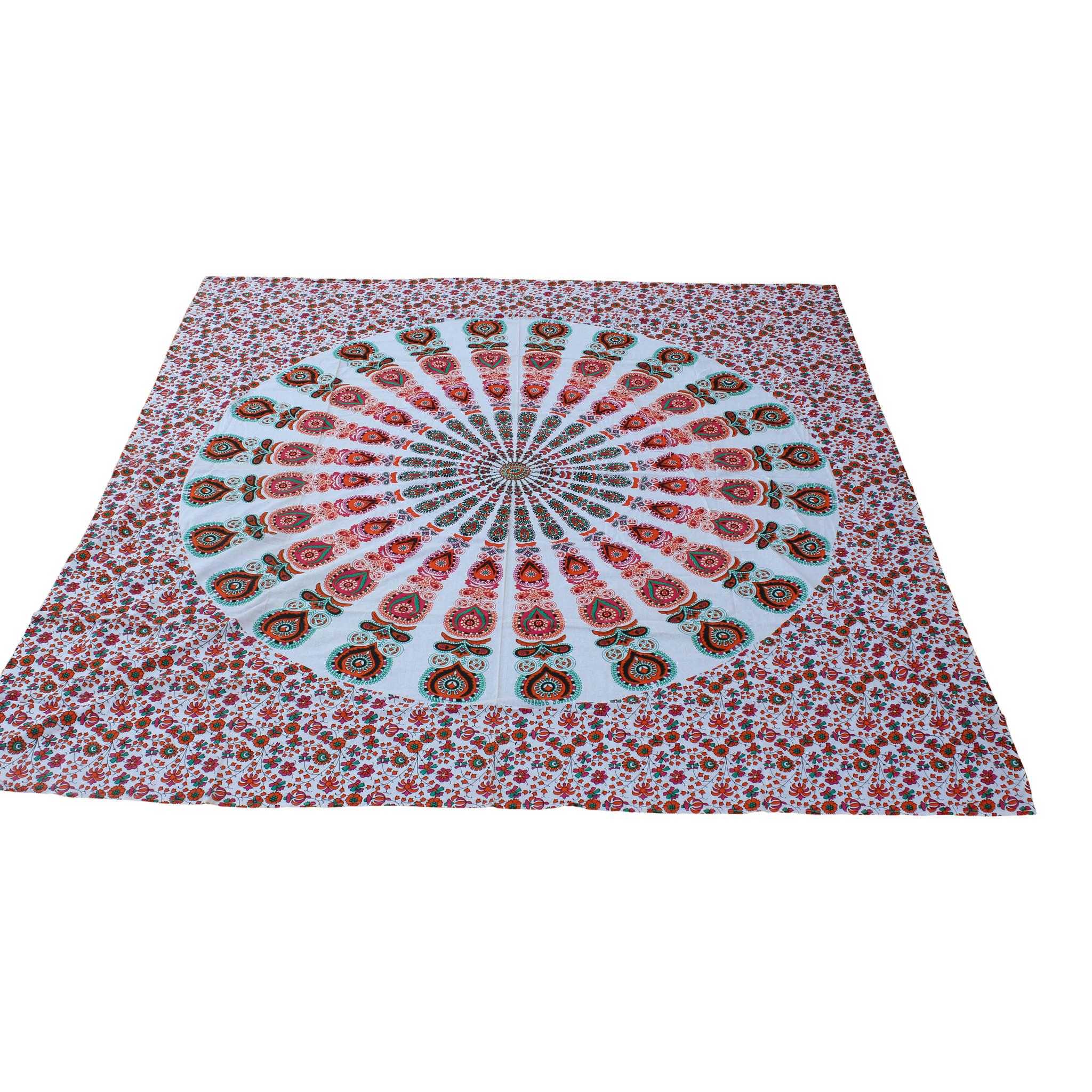 Myroundie Myroundie - roundie - vierkant strandlaken XL – yoga kleed- speelkleed - picknickkleed -100% katoen – Q17