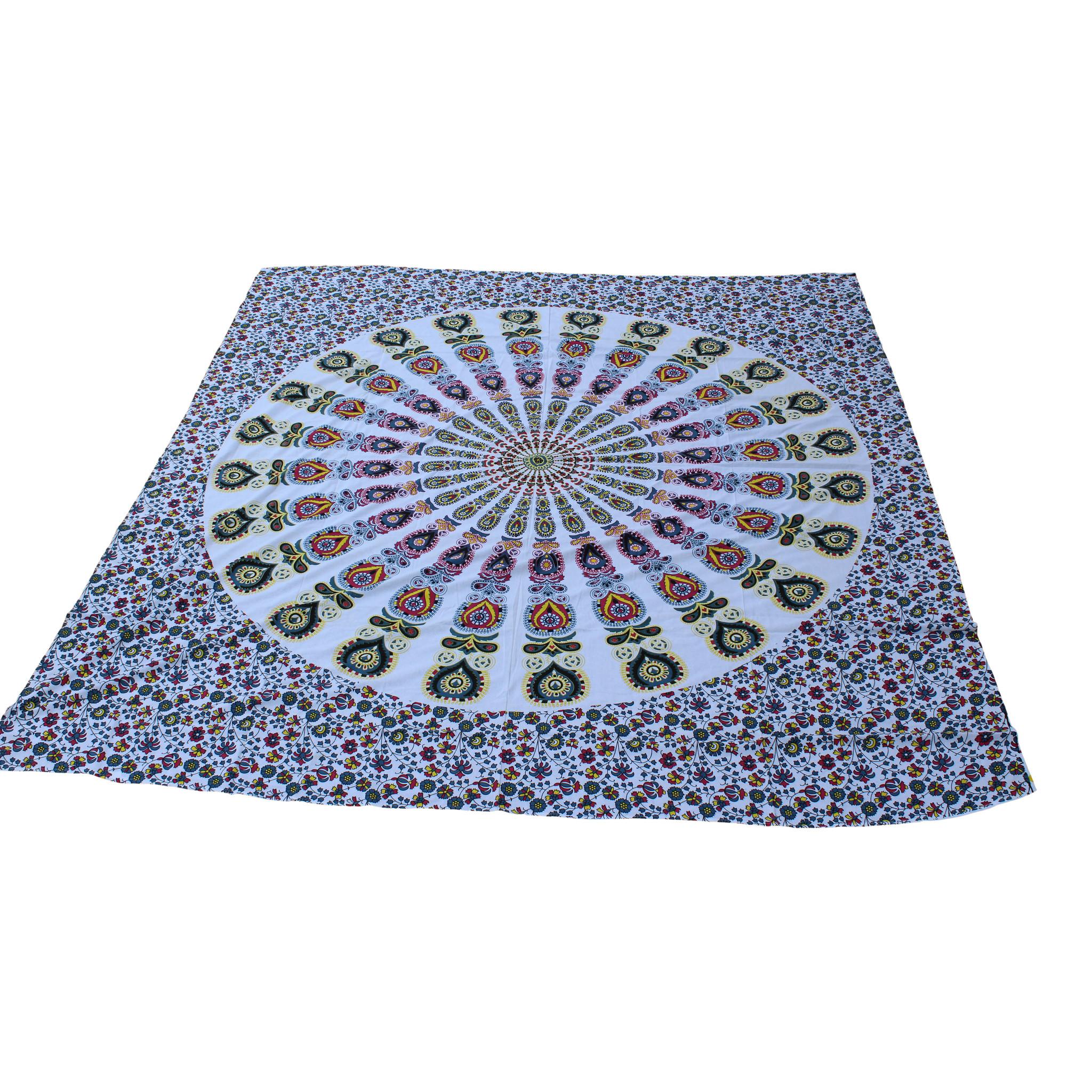Myroundie Myroundie - roundie - vierkant strandlaken XL – yoga kleed- speelkleed - picknickkleed -100% katoen – Q14