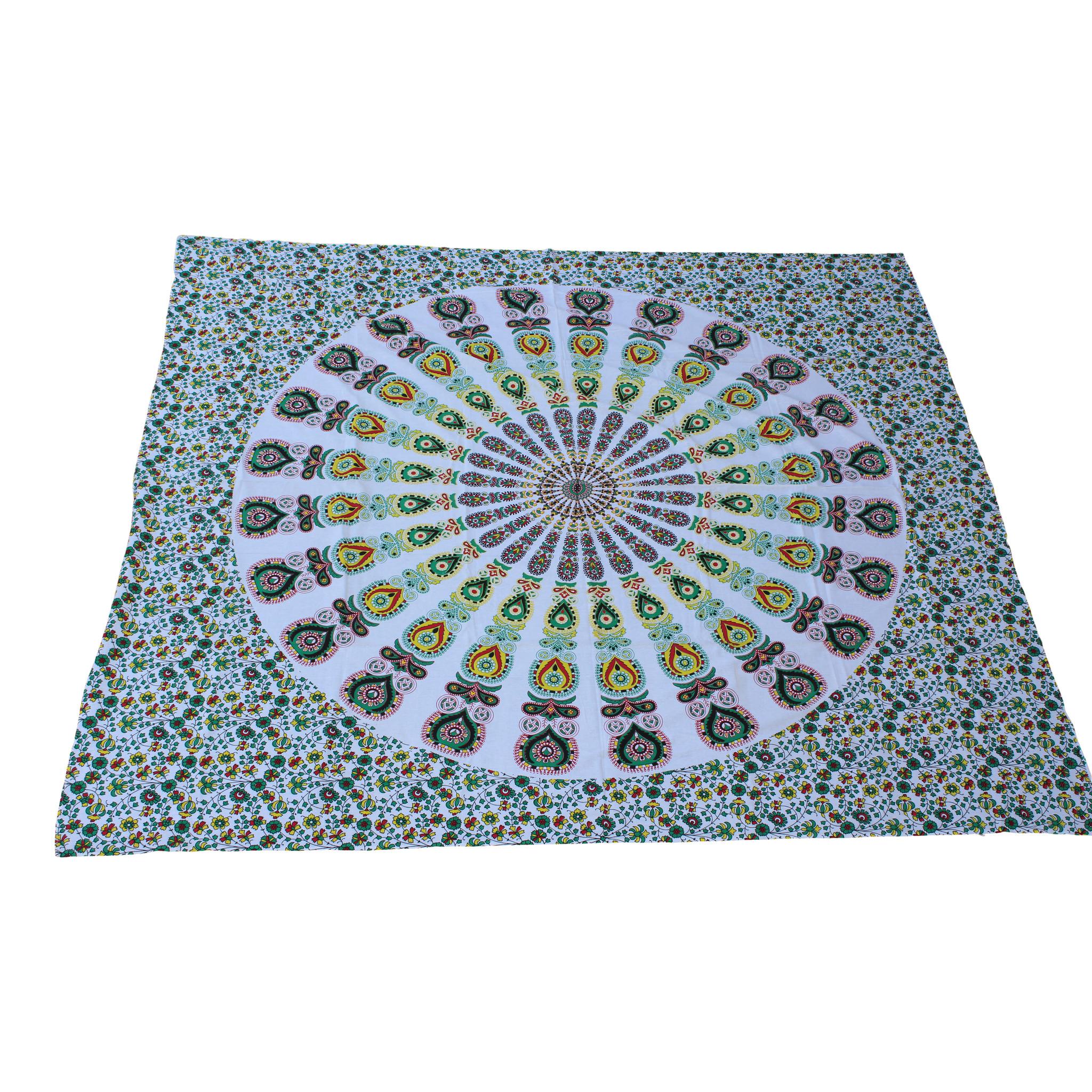 Myroundie Myroundie - roundie - vierkant strandlaken XL – yoga kleed- speelkleed - picknickkleed -100% katoen – Q10