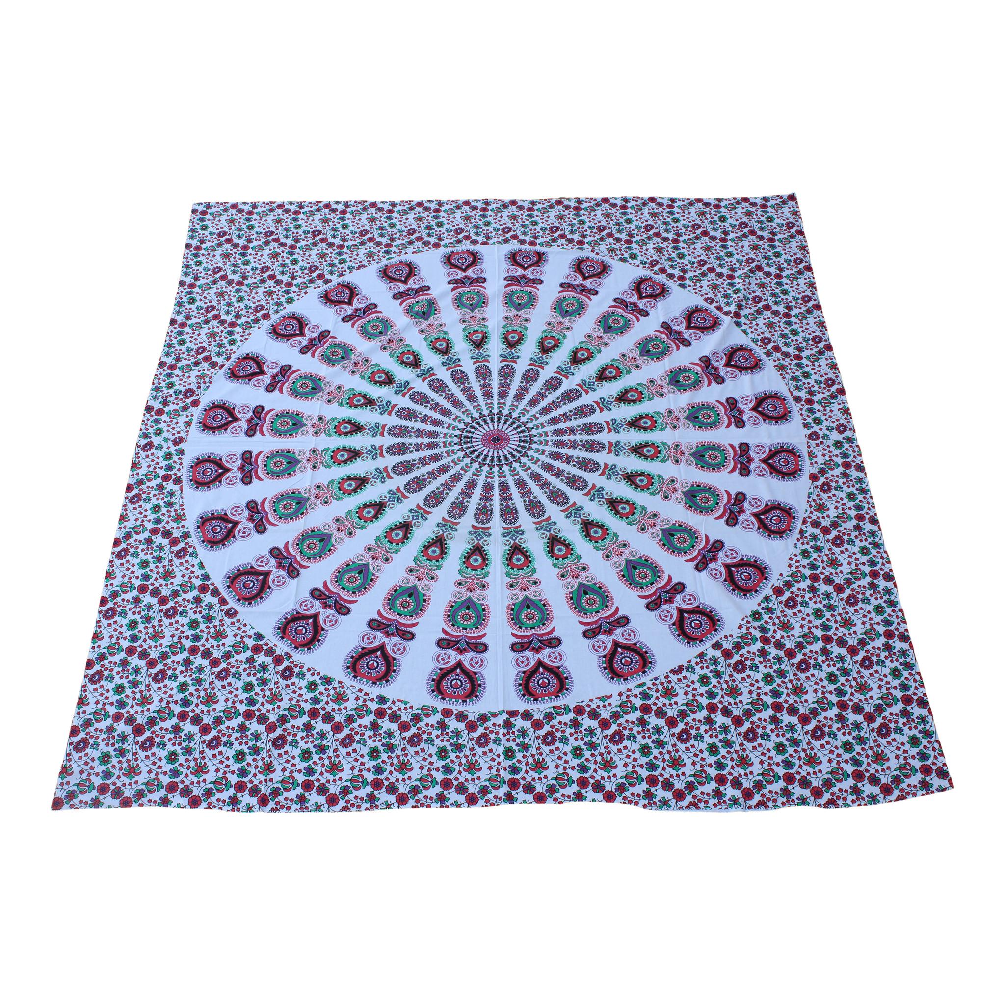 Myroundie Myroundie - roundie - vierkant strandlaken XL – yoga kleed- speelkleed - picknickkleed -100% katoen – Q19