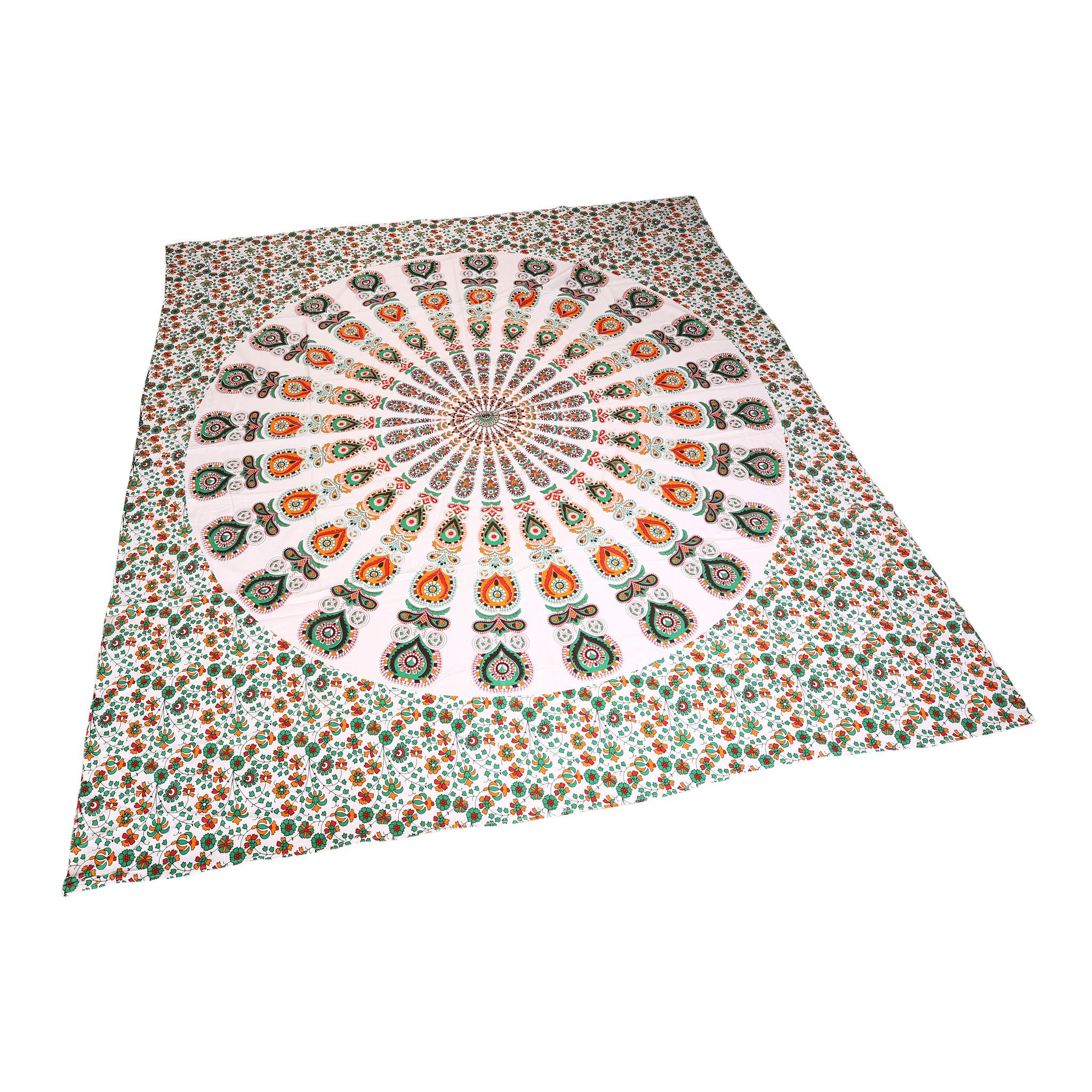 Myroundie Myroundie - roundie - vierkant strandlaken XL – yoga kleed- speelkleed - picknickkleed -100% katoen – Q11