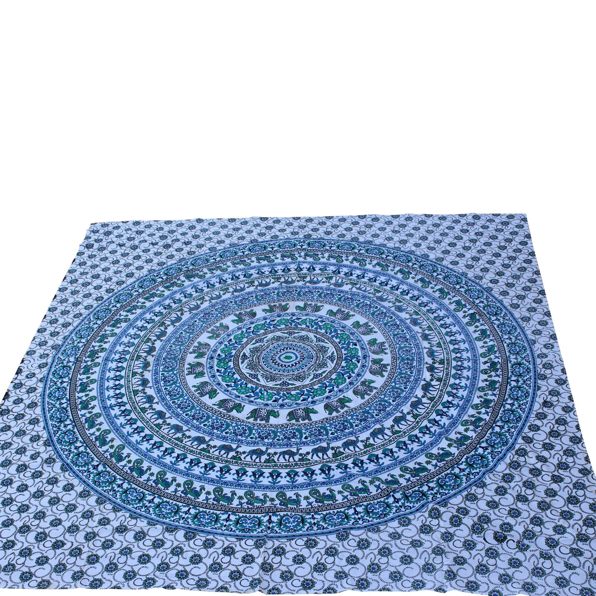 Myroundie Myroundie - roundie - vierkant strandlaken XL – yoga kleed- speelkleed - picknickkleed -100% katoen – Q26
