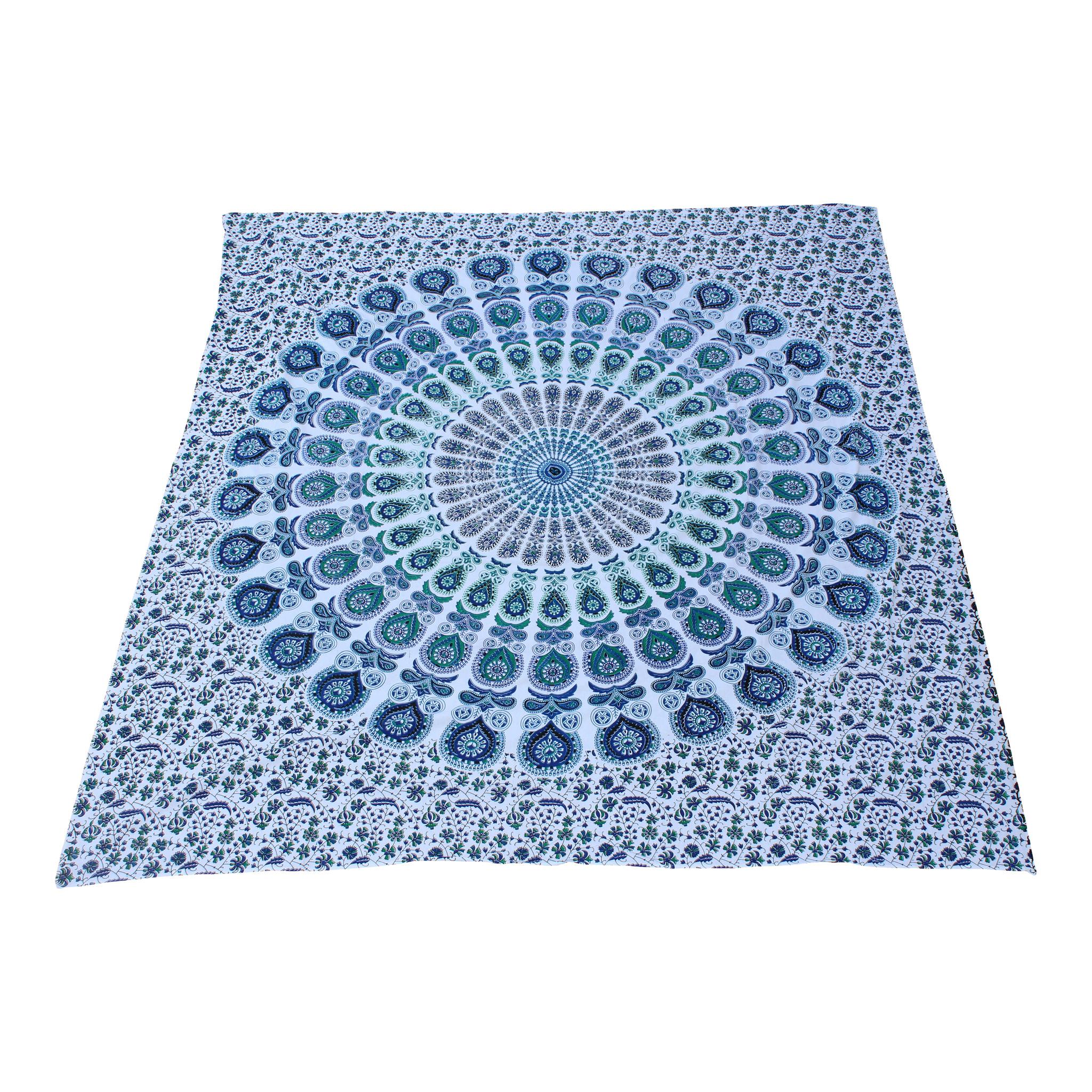 Myroundie Myroundie - roundie - vierkant strandlaken XL – yoga kleed- speelkleed - picknickkleed -100% katoen – Q16