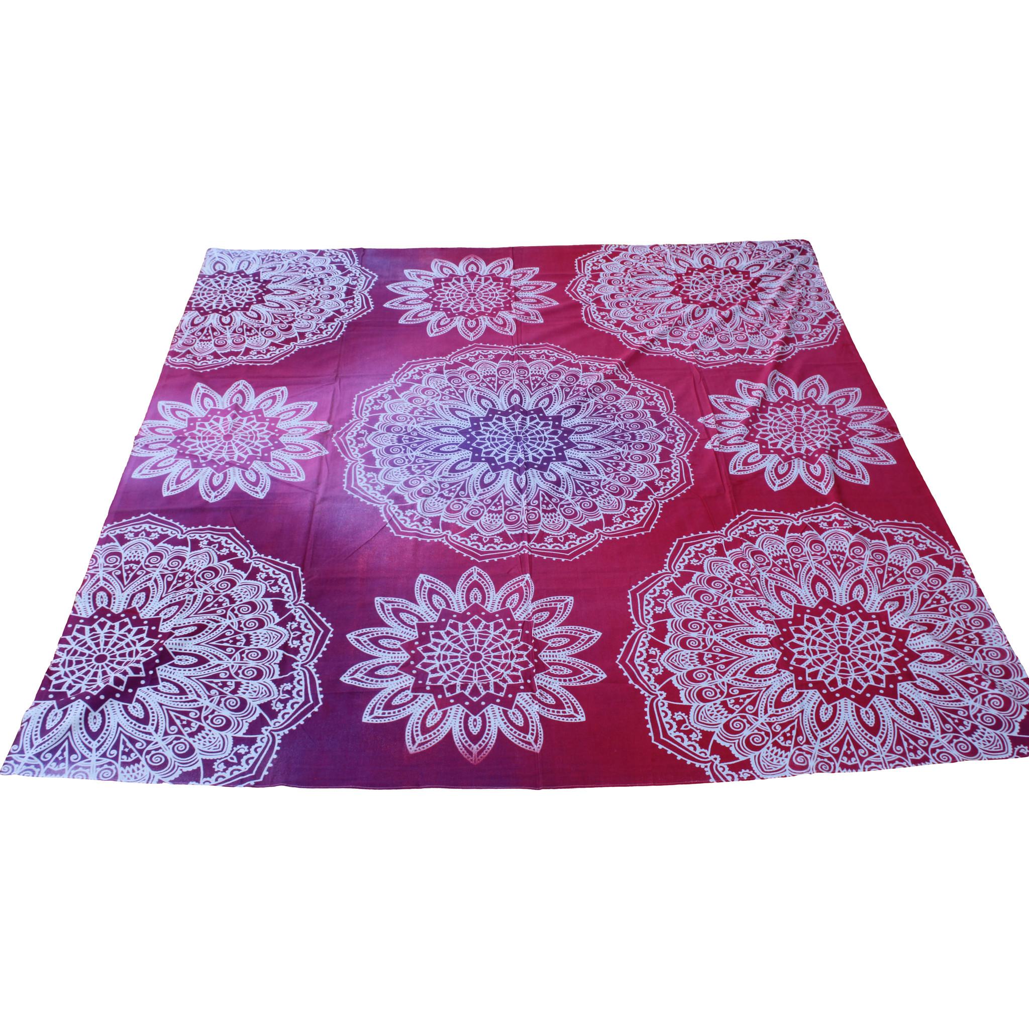 Myroundie Myroundie - roundie - vierkant strandlaken XL – yoga kleed- speelkleed - picknickkleed -100% katoen – Q47