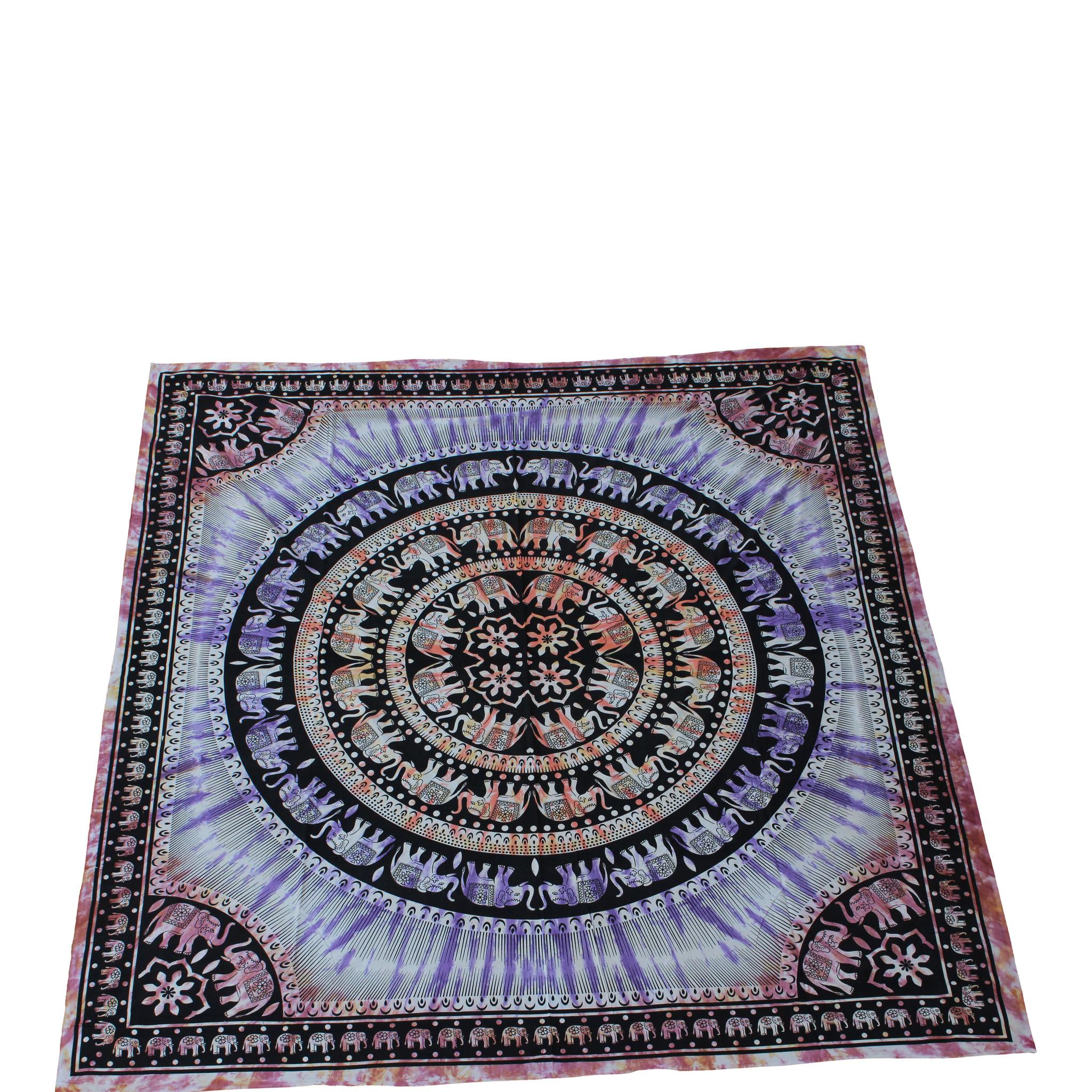Myroundie Myroundie - roundie - vierkant strandlaken XL – yoga kleed- speelkleed - picknickkleed -100% katoen – Q48