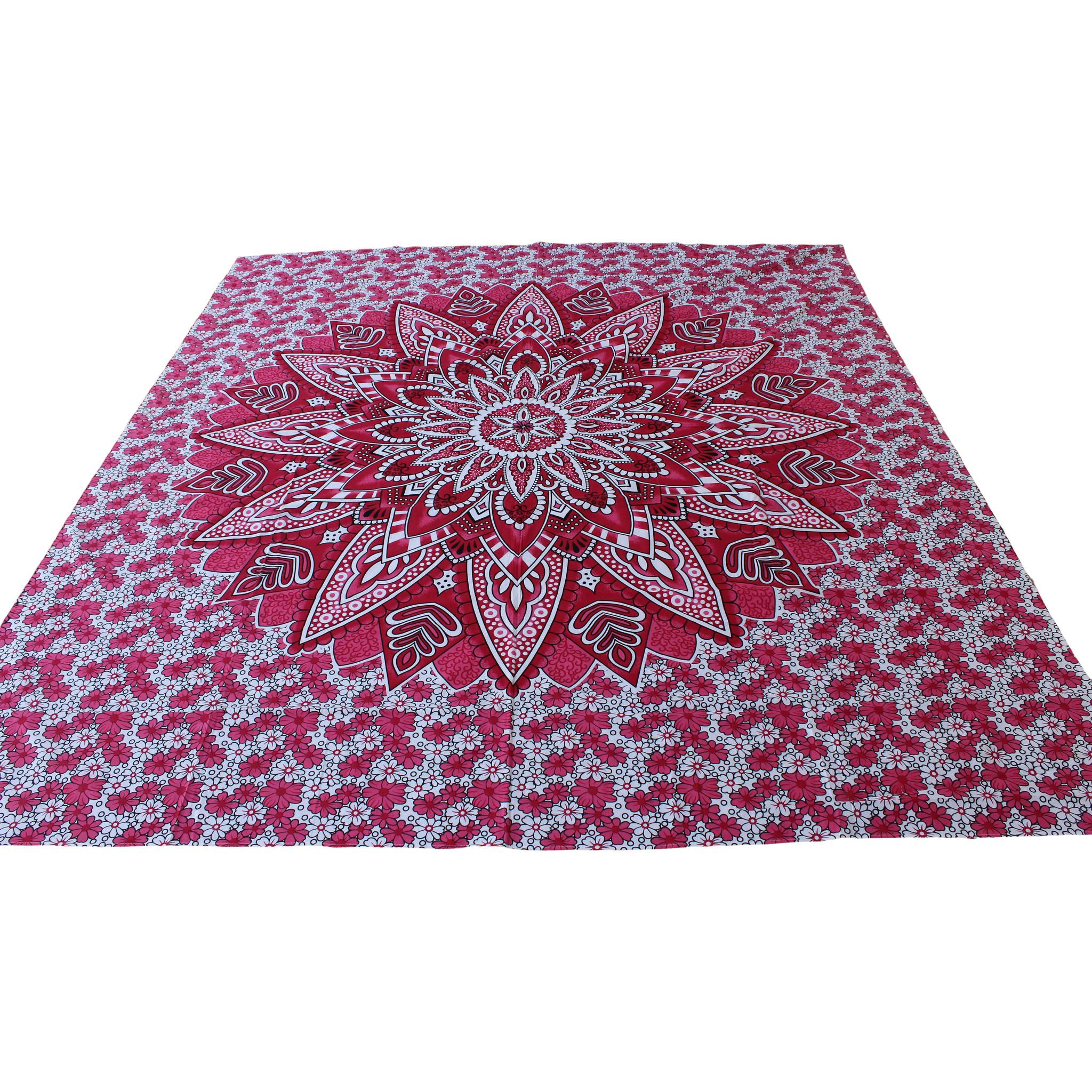 Myroundie Myroundie - roundie - vierkant strandlaken XL – yoga kleed- speelkleed - picknickkleed -100% katoen – Q58