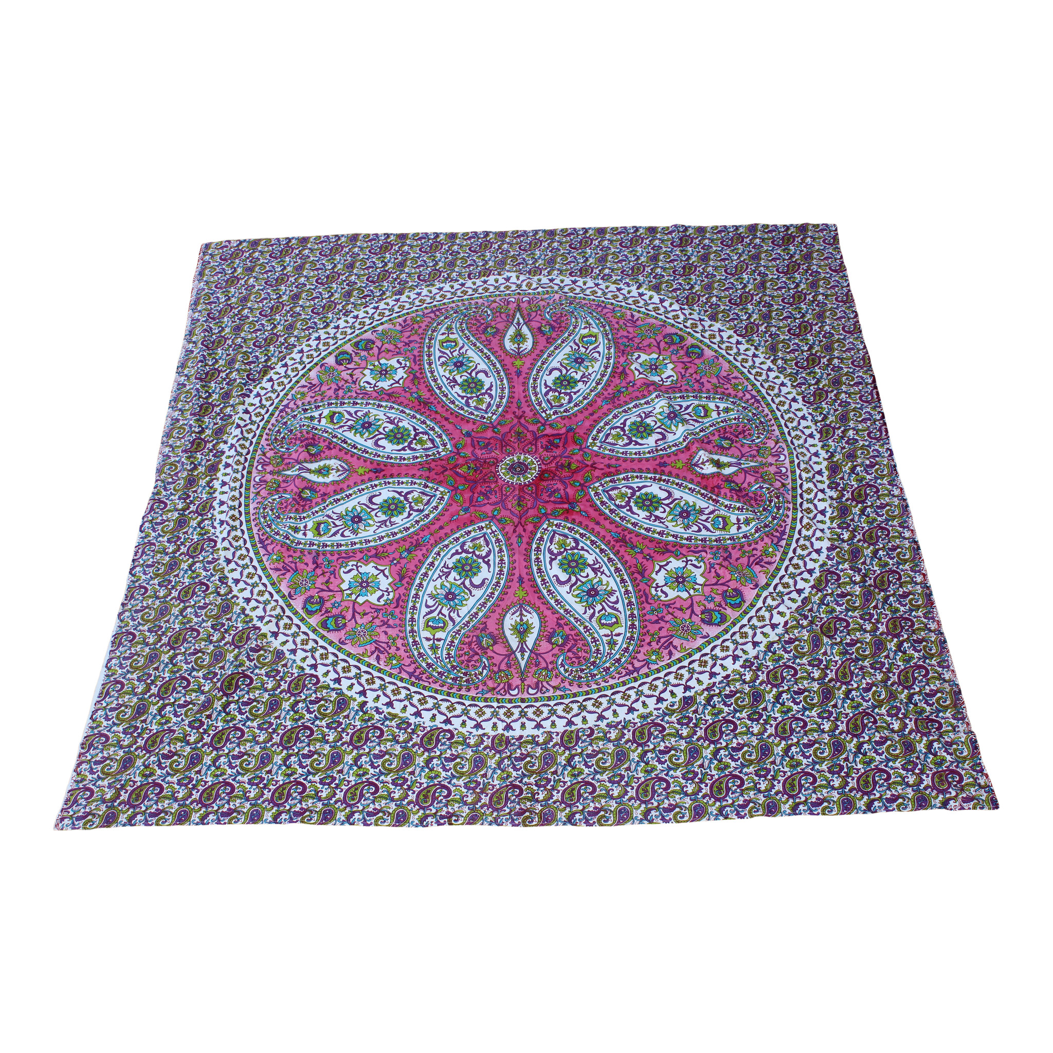 Myroundie Myroundie - roundie - vierkant strandlaken XL – yoga kleed- speelkleed - picknickkleed -100% katoen – Q54