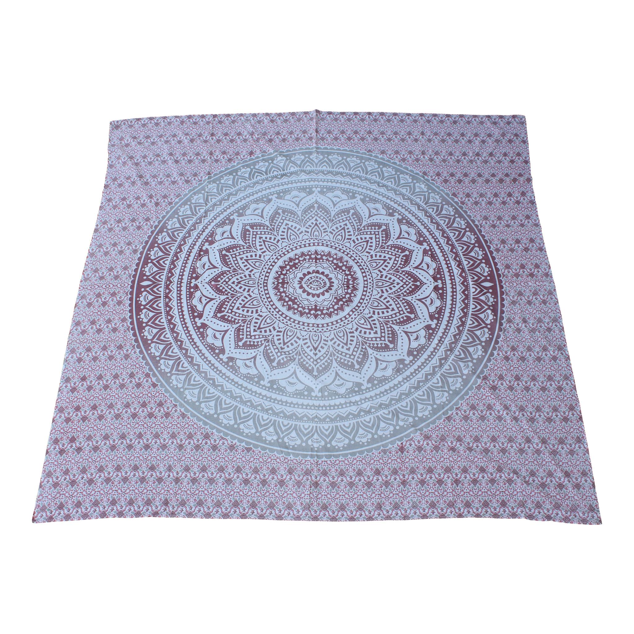 Myroundie Myroundie - roundie - vierkant strandlaken XL – yoga kleed- speelkleed - picknickkleed -100% katoen – Q46