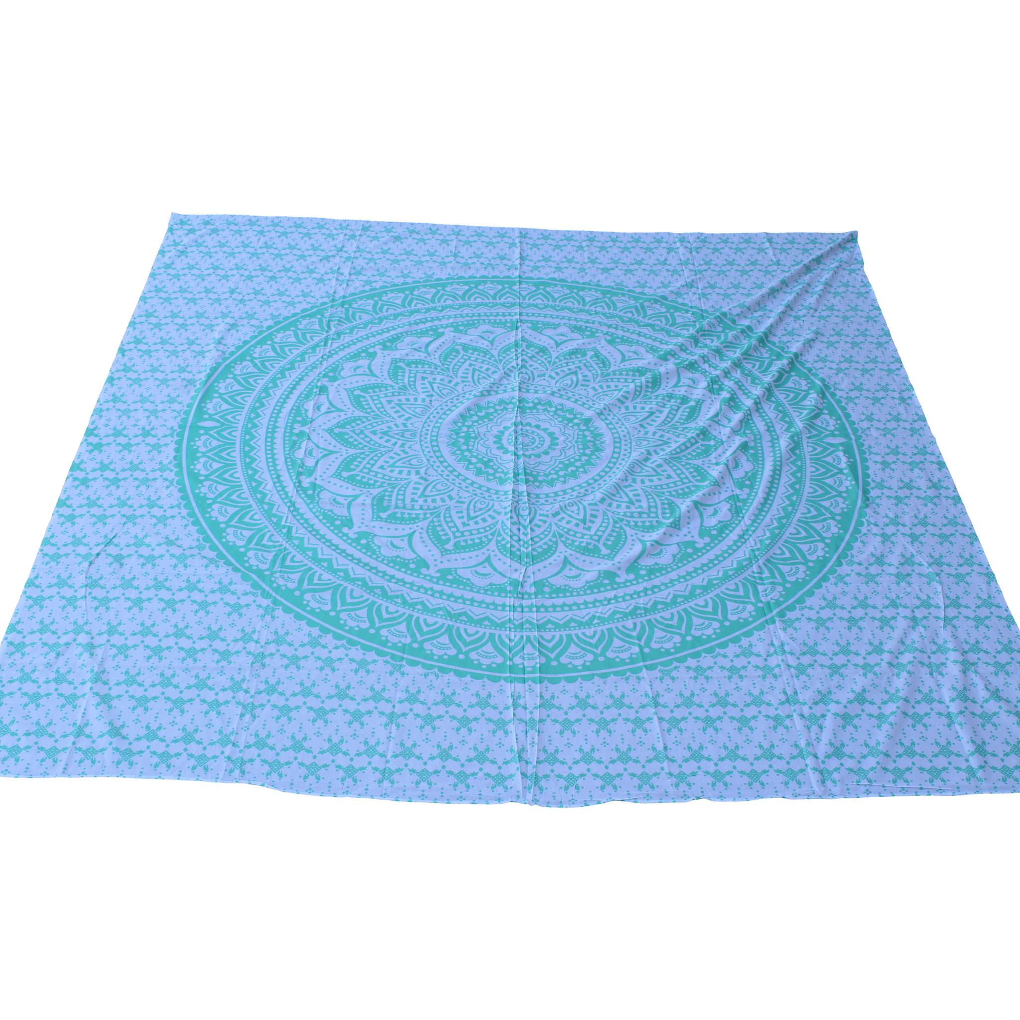Myroundie Myroundie - roundie - vierkant strandlaken XL – yoga kleed- speelkleed - picknickkleed -100% katoen – Q45