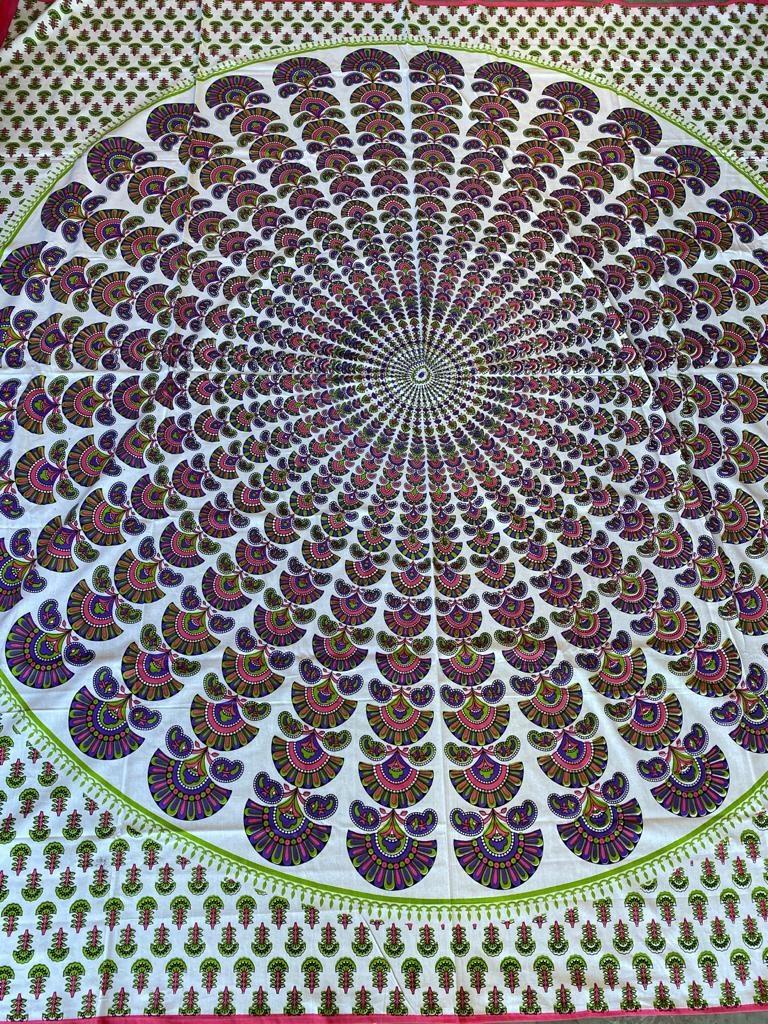 Myroundie Myroundie - roundie - vierkant strandlaken XL – yoga kleed- speelkleed - picknickkleed -100% katoen – Q57