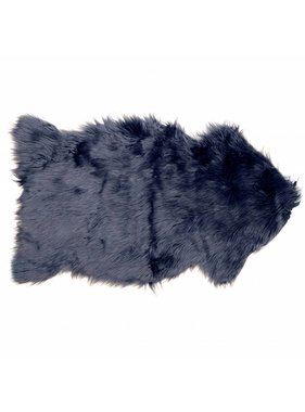 Unique Living sierkussens & plaids Decoratiebontje fake fur 60x100cm dark blue