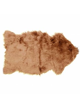Decoratiebontje fake fur 60x100cm haze brown