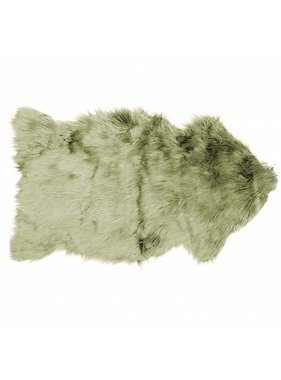 Decoratiebontje fake fur 60x100cm oil green