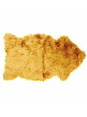 Decoratiebontje fake fur 60x100cm sunflower yellow