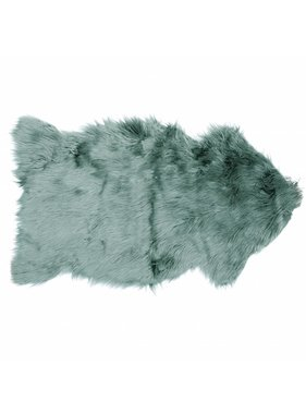 Unique Living sierkussens & plaids Decoratiebontje fake fur 60x100cm teal green
