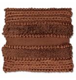 sierkussen  Salo 45x45cm mahogany brown