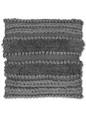 Sierkussen / sierkussens  Salo 45x45cm dark grey