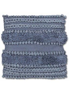 Sierkussen / sierkussens  Salo 45x45cm dark blue