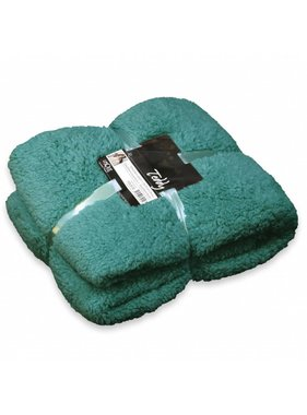 Unique Living sierkussens & plaids Plaid Teddy  150x200cm teal green