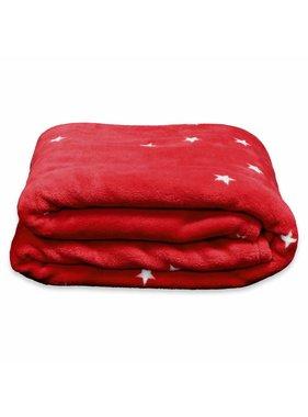 Unique Living sierkussens & plaids Plaid Little star 150x200cm red