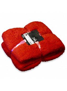 Unique Living sierkussens & plaids Plaid Teddy  150x200cm clay red