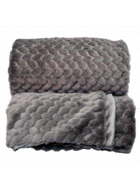 Unique Living sierkussens & plaids Plaid Kimmie 130x160cm dark grey