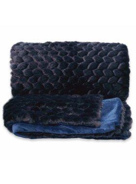 Unique Living sierkussens & plaids Plaid Kimmie 130x160cm dark blue