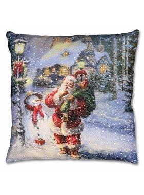 Kerst sierkussen Santa friends 45x45cm dessin 12