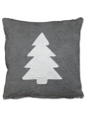 Kerst sierkussen canvas Xmas 45x45cm tree