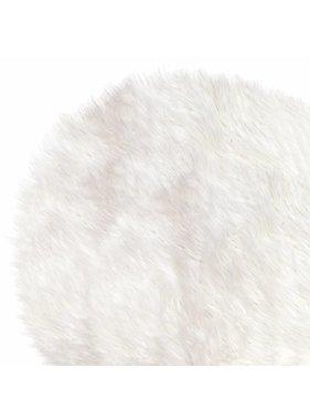 Unique Living sierkussens & plaids Vloermat fake fur 70cm Ø white
