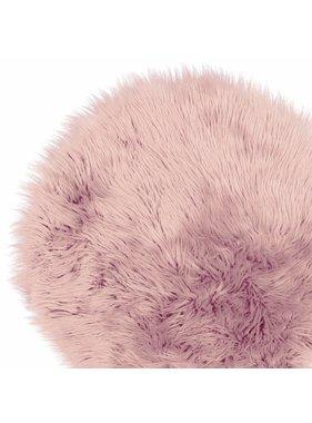 Unique Living sierkussens & plaids Vloermat fake fur 70cm Ø old pink