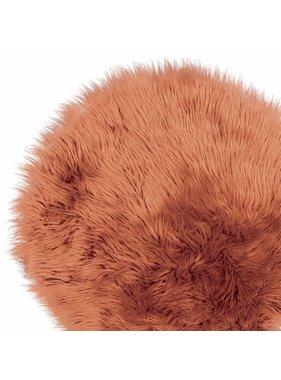 Unique Living sierkussens & plaids Vloermat fake fur 70cm Ø hazel brown