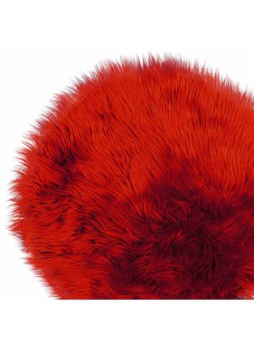 Unique Living sierkussens & plaids Vloermat fake fur 70cm Ø clay red