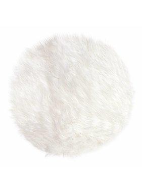 Unique Living sierkussens & plaids Vloermat fake fur 40cm Ø white
