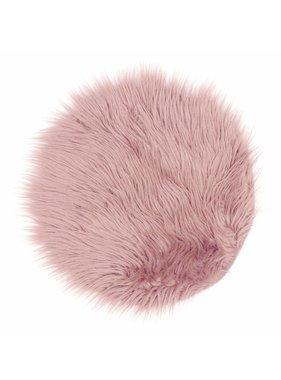 Unique Living sierkussens & plaids Vloermat fake fur 40cm Ø old pink